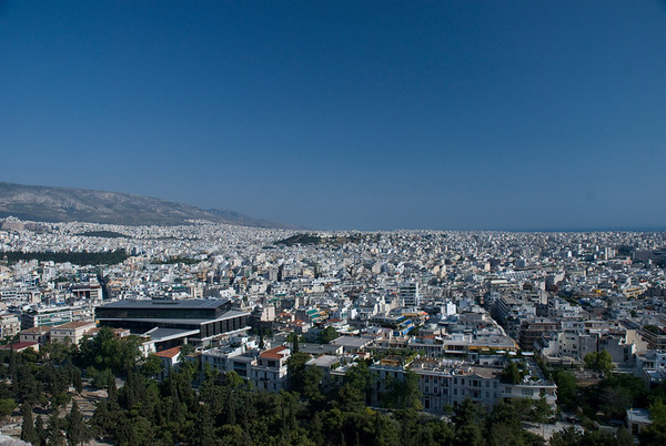 Looking out over all of Athens, from the top of the Acropolis.