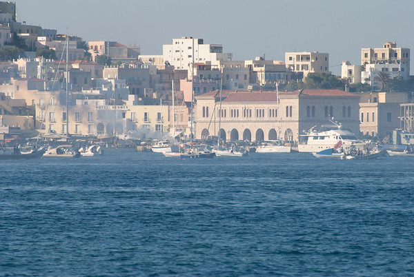 Syros was having a huge motorboat convention while we were there and they made a big ruccus.