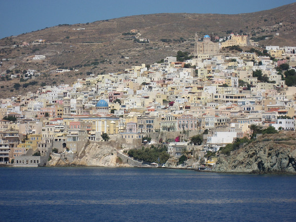 The view of Syros as we pulled in on the ferry from Athens