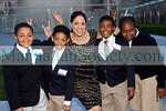 Soledad O'Brien having fun with Students from Harlem Academy