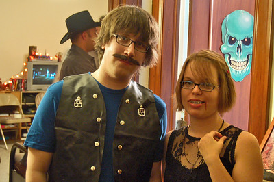 """A character from """"Metalocalypse"""" and a Vampire"""