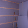 DAY TWO- INSULATION IS UP ON THE ONE WALL, AND THE WINDOW WALL HAS INSULATION AND DRYWALL UP!