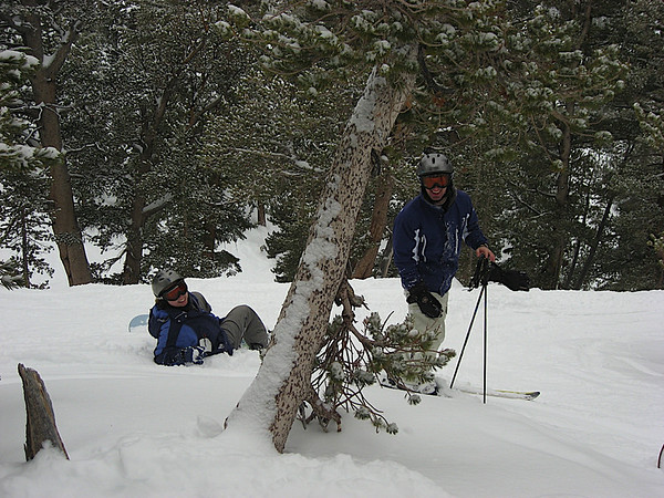 Alicia and Aaron in the trees off of Sky Express