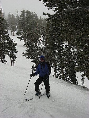 Brian in the trees off of Sky Express