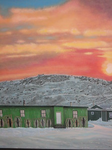 Best Photo (ok, actually a picture of a painting in Iqualuit) - Amy Garawitz