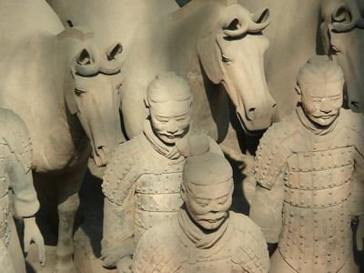 Terra cotta warriors - Betty and John Leydon