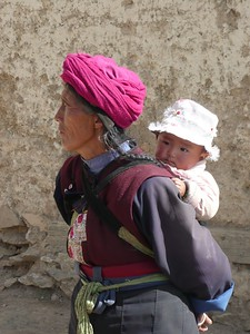 Tibetan village locals - Betty and John Leydon