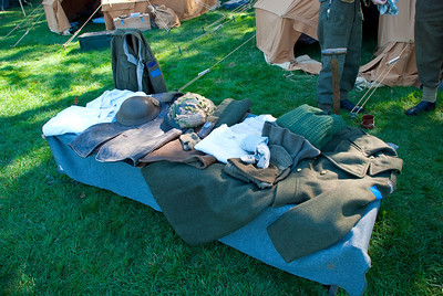Some of the clothing the soldiers wore.