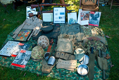 More stuff that soldiers wore, equipment used, and naturally Life Magazine.