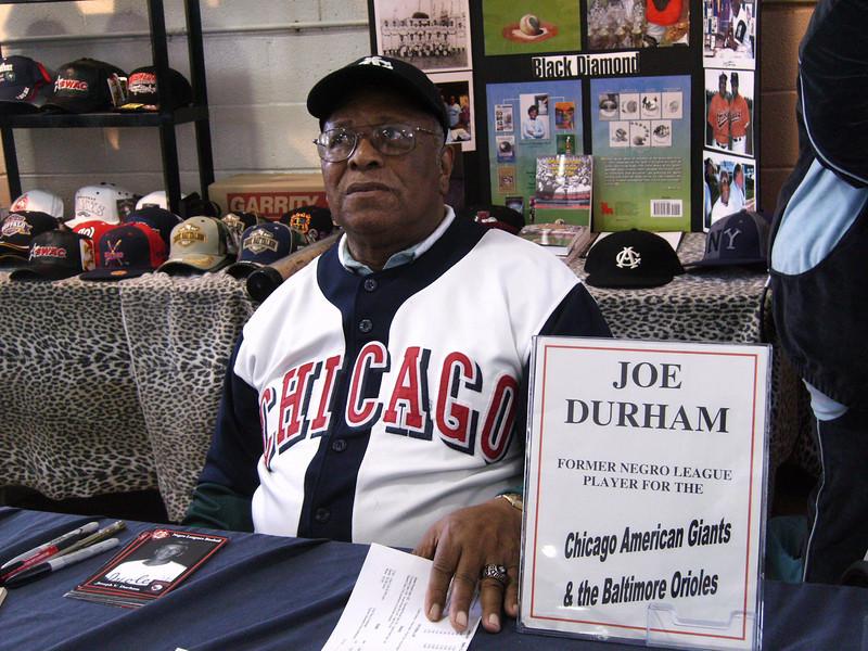 Joe Durham played Negro League Baseball