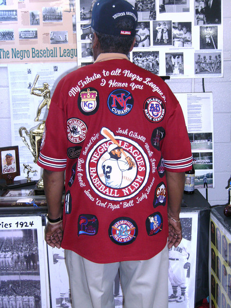 One of a kind shirt, Ray Banks, Negro League Goodwill Ambassador, 2203 Hamiltowne Circle, Baltimore, MD 21237, (410) 866-4815, negroleagueambassador@yahoo.com