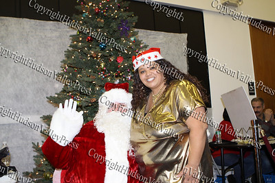 Maritza Wilson with Santa Claus at the City of Newburgh Christmas Extravaganza held at the Business Resource Center on December 12, 2008.