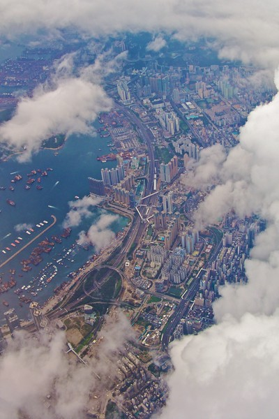Hong Kong from the air • View from the plane during my approach into Hong Kong on the morning of 8th July 2008.