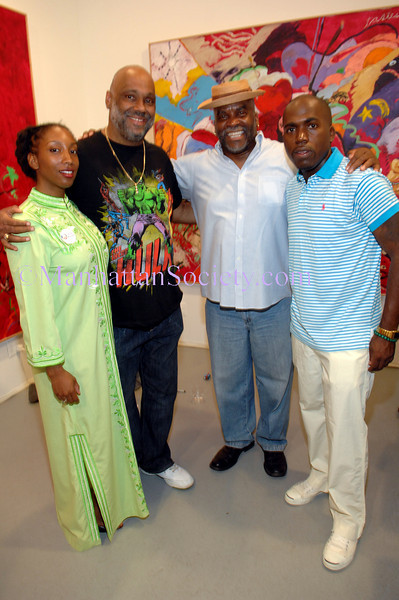 Ayana Jackson, Danny Simmons, George R. N'Namdi, Derrick Adams atttend Hope.Change.Progress: Art Focus for Obama. Tuesday, June 24, 6-9 p.m., G.R.N'Namdi Gallery,526 West 26th Street #316, New York, NY 10001 Photos: Copyright ©Manhattan Society.com 2008 by Christopher London | tel:Private |e-mail: ChrisLondon@manhattansociety.com