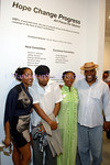 Alaina Simone, DK Spooky, Ayana Jackson,George R. N'Namdi atttend Hope.Change.Progress: Art Focus for Obama. Tuesday, June 24, 6-9 p.m., G.R.N'Namdi Gallery,526 West 26th Street #316, New York, NY 10001 Photos: Copyright ©Manhattan Society.com 2008 by Christopher London | tel:Private |e-mail: ChrisLondon@manhattansociety.com