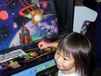 Kaara at the arcade
