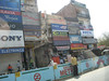 Street in Delhi and construction for the new metro line in preparation for the Commonwealth Games.