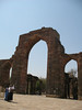 ruins surrounding the minar...