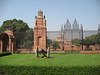 Rashtrapati Bhawan (Viceroy Palace) where India's democratic president lives & Mughal gardens that are only open to the public every spring.