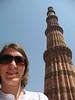me and qutab minar - tallest tallest brick minaret in the world!