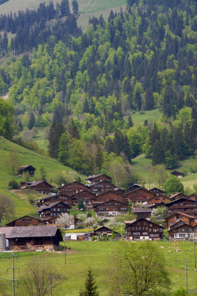 Houses in the Bernese Oberland.