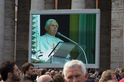 We received a blessing by the Pope.