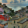 Riomaggiore, a view from the top of the town.