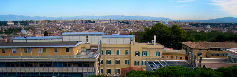 The view from Luke's Seminary.
