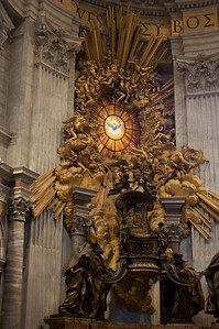 We celebrated mass at the very front of St. Peter's, right underneath the dove.
