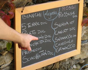 Lunch in Corniglia.  We had the Rossi.