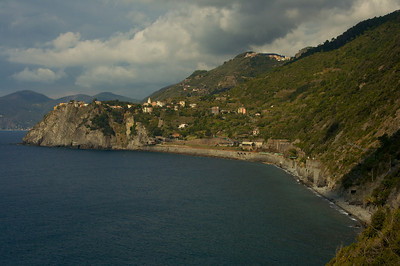 A view of Corniglia from afar.