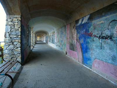 Graffiti on the via dell'Amore.