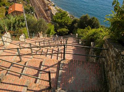 Corniglia's steps.