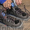 Stable base: The wide, elongated soles of the shooters footwear makes for a stable base while shooting from the standing position.