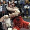 Get a grip: Terre Haute South's Jordan Jensen attempts to control Tyler Deckard of Bloomington South during sectional championship action in the 112 lb. class. Deckard was the eventual winner of the match.
