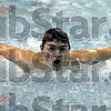 Flying: North's David Broughton swims his butterfly leg of the 200 meter individual medly during the North/South swim meet Thursday night.