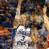 Top scorer: Indiana State's Kelsey Luna shoots for two of her game-high 19 points during the Sycamores' win over the Bradley Braves Thursday at Hulman Center.