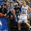 It should go that way!: Indiana State guard Leah Phillips makes the call for the officials on who should receive a ball that went out of bounds during the Sycamores' game against Creighton Thursday in Hulman Center.