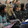 Team: Members of the ISU women's volleyball team listen as coaching candidate Traci Dahl speaks with interested parties during an open forum Tuesday afternoon.