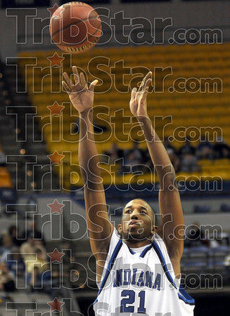 Wings: Isiah Martin takes a shot during game action against Evansville Thursday night at Hulman Center.