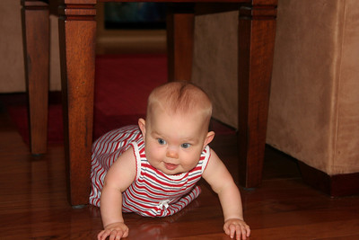 Anna figured out today that there is a whole world outside the confines of the couches and endtables!