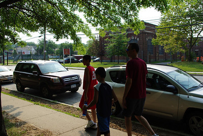 Nikhil, Kavan, and Larry heading to the court.