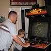 Dustin and nephew Scott playing some arcade games at Tiffany and Mike's (some of Jen's cousins).