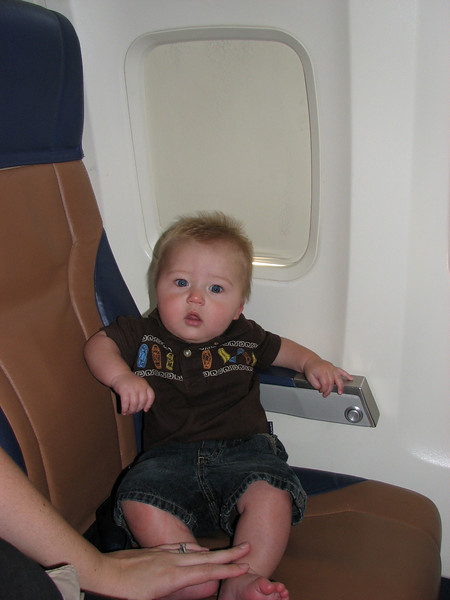 Zachary's first plane ride!