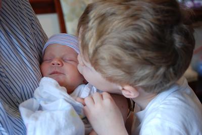 Nathaniel loves his little sister.