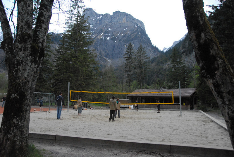 Site of the international volleyball competition
