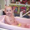 splashing in the bathtub