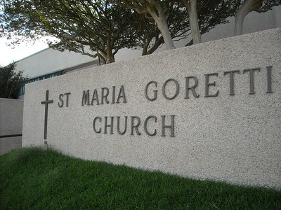 Front of St. Maria Goretti Church