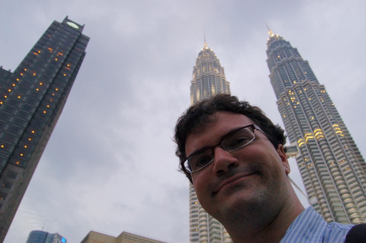 Matt at the Petronas Towers