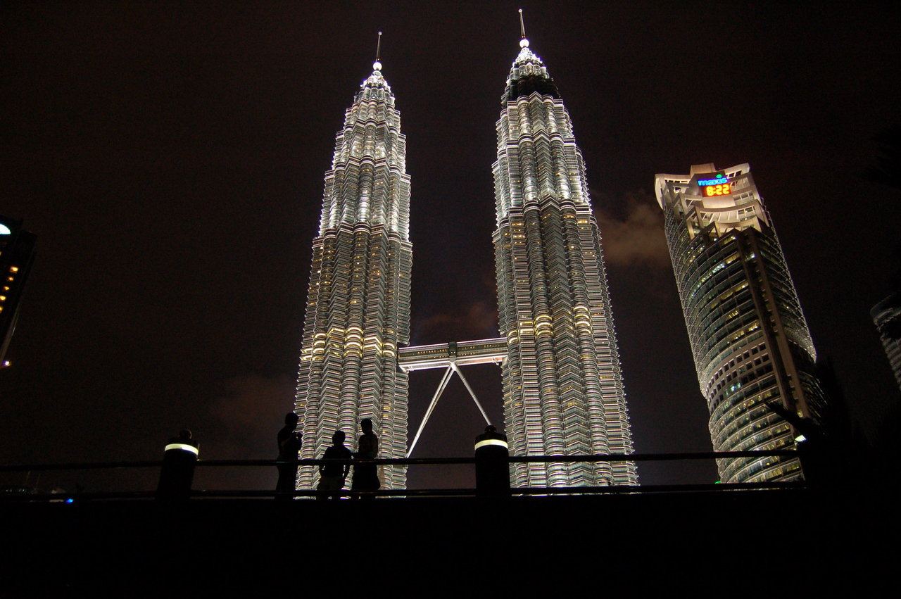 Silhouettes at the Petronas Towers